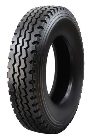 Truck tire. Isolated Stock Photo