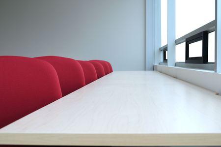 Seats in a row. Selective focus. Stock Photo - 8119710