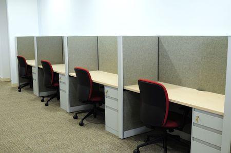 Desks in a row. photo