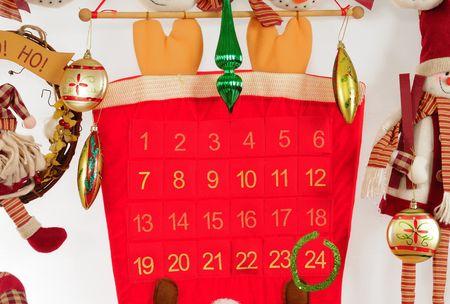 Christmas calendar. photo