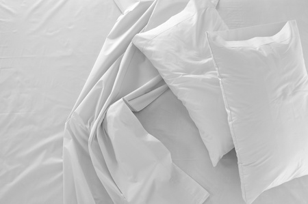 white pillow: Bedding Stock Photo