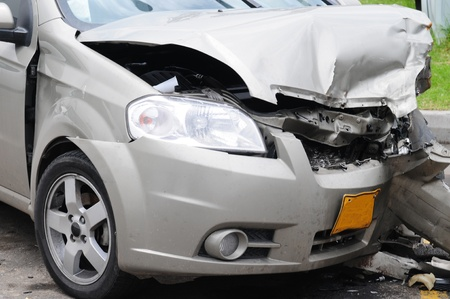 total: Car accident. Stock Photo
