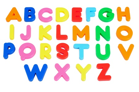 magnets: Alphabets. Isolated Stock Photo