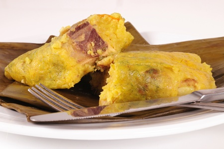 colombian food: Tamale.
