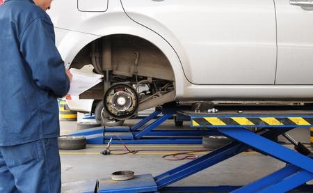 brake: Brake diagnostic. Stock Photo