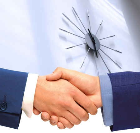 punctuality: Punctuality. Stock Photo