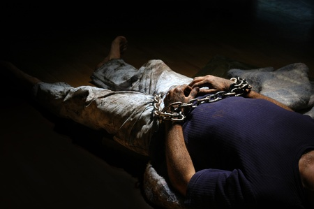 rusty chain: Kidnapped person.