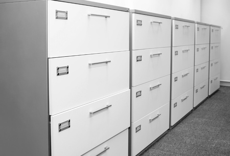 Filing cabinet. photo