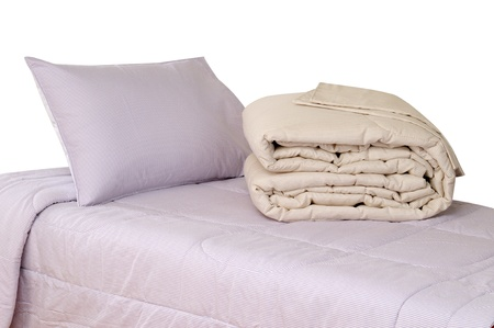 Bedding. Isolated photo