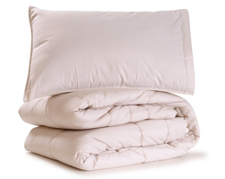 pillow case: Bedding. Isolated Stock Photo