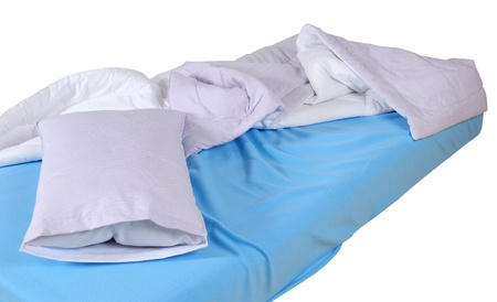 Messy bed. Stock Photo - 9385816