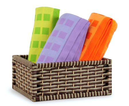 Bath towels. Isolated Stock Photo - 9315456