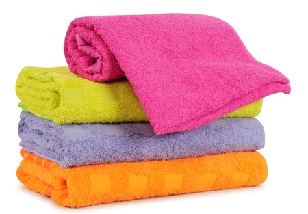 Bath towels. Isolated Stock Photo - 9315466