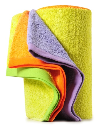 Bath towels. Isolated Stock Photo - 9315465