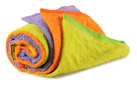 Bath towels. Isolated Stock Photo - 9315457