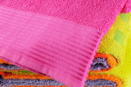 Bath towels. Isolated Stock Photo - 9315478
