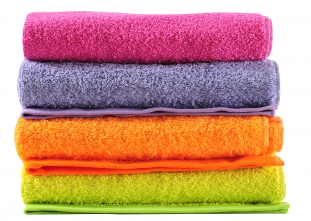 Bath towels. Isolated photo