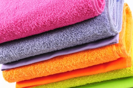 puffy: Bath towels. Isolated