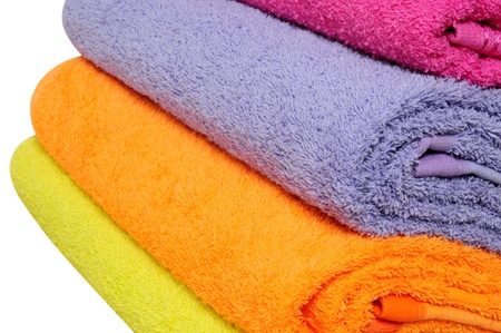 Bath towels. Isolated Stock Photo - 9315470
