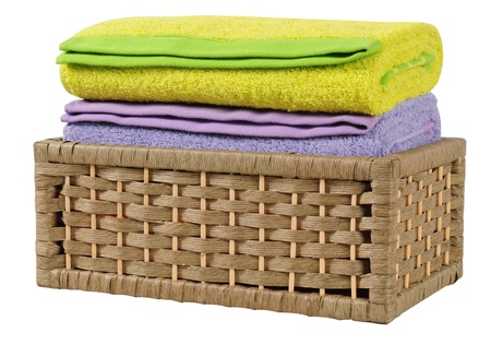 Bath towels. Isolated Stock Photo - 9315462