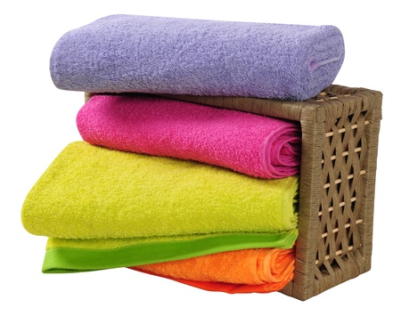 Bath towels. Isolated Stock Photo - 9315461
