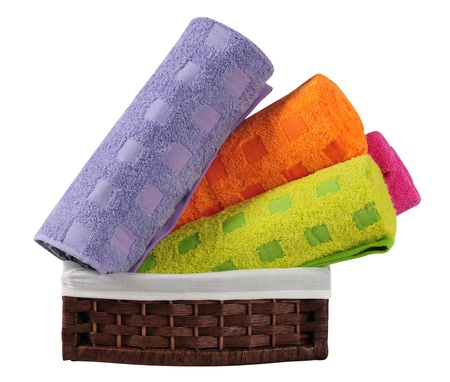 Bath towels. Isolated Stock Photo - 9315454