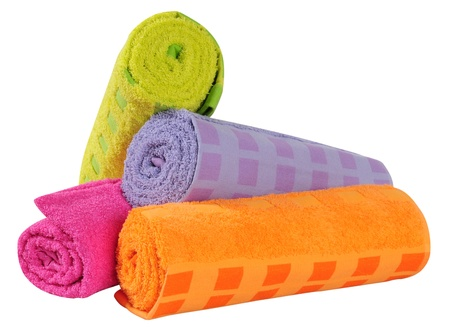 Bath towels. Isolated Stock Photo - 9315452