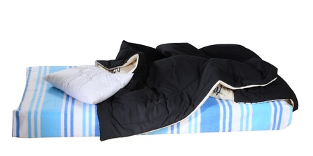 case sheet: Messy bed. Isolated