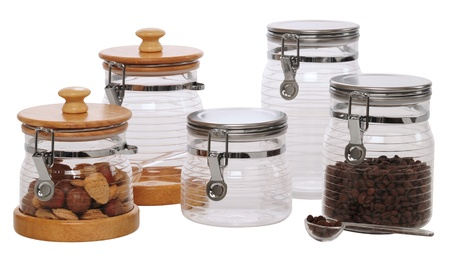 Jars. Isolated photo