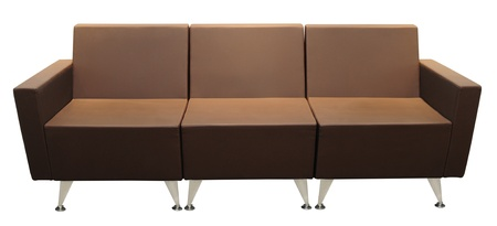 Brown couch. Isolated photo