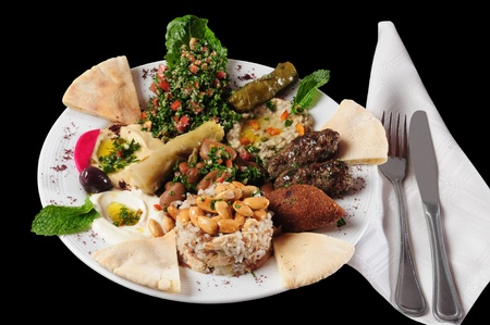 Lebanese cuisine. Isolated