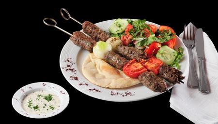 Shish kebab. Geïsoleerd Stockfoto