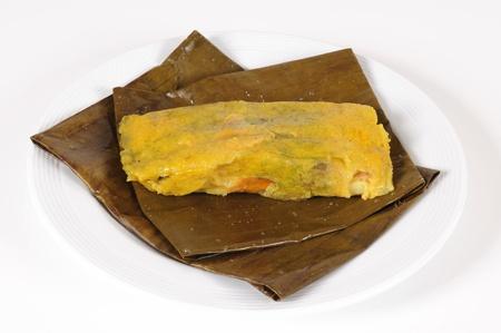 comida colombiana: Tamale.