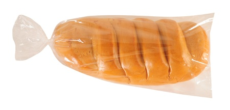 long loaf: Bread bag. Isolated