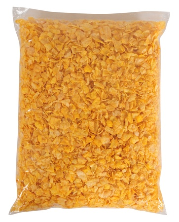 Cereal bag. Isolated photo