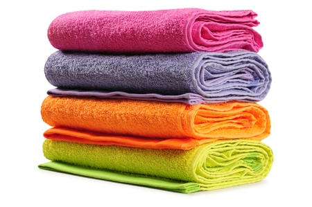 Bath towel. Isolated photo