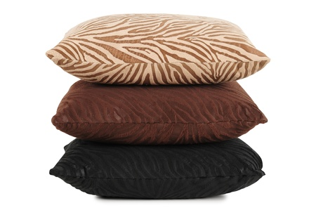 bed spreads: Cushions. Isolated