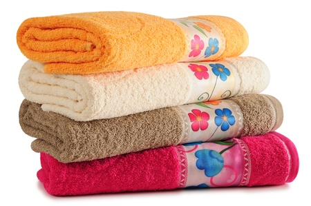 dry cleaners: Bath towel. Isolated