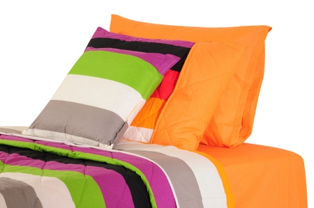 overlapped: Bedding. Isolated Stock Photo