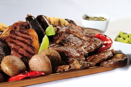 meat steak: Barbecue.