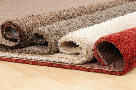 wool rugs: Carpet roll.