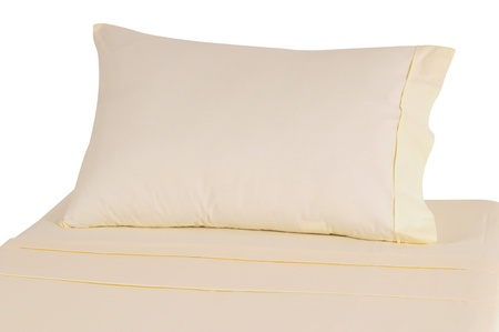 unattended: Bedding. Isolated Stock Photo