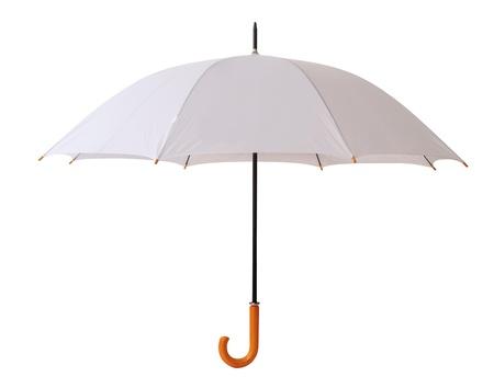 lluvia paraguas: Paraguas blanco. Aislado