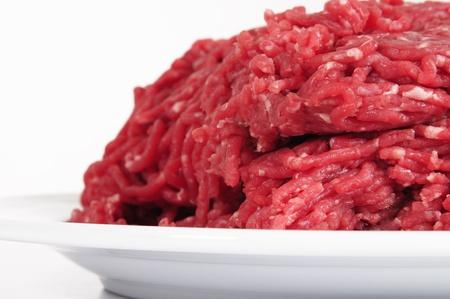carne picada: Carne molida. Foto de archivo