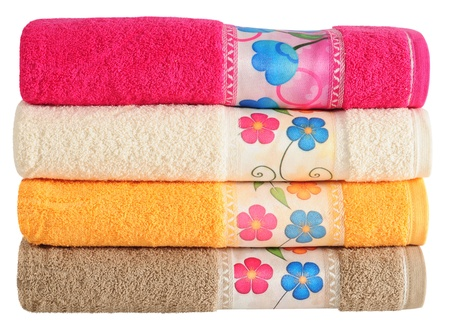 household objects: Bath towels Stock Photo