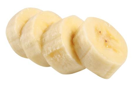 Banana slices. photo