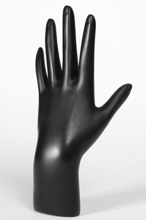 mannequin: Mannequin main noire Banque d'images