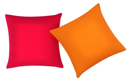 comforter: Two cushions