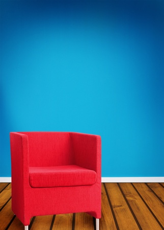 Abstract red seat  photo