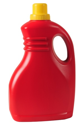petrol can: Detergent bottle  Isolated